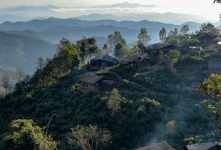 Late afternoon serenitiy in Ban Lo Ma village Laos.