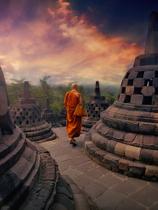 Monk - Borobudur Temple. Indonesia