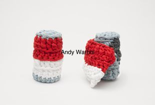 """Andy Warhol"", series: Knitting art, 2015"