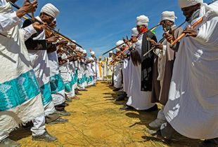 Celebrations in white for the Genna, the Ethiopian Christmas