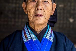 Elderly Miao woman
