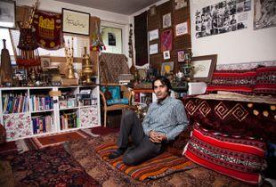 Iranian living room in London,Zartosht safari, Musician