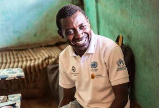 Adonis, a Congolese refugee inside Nakivale refugee settlement
