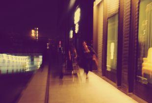 blur city night