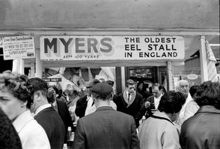 Myers Eel Stall, London, 1965