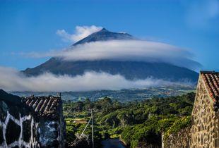 UNESCO-Weinbaugebiet Lajedo mit Blick auf den Pico.