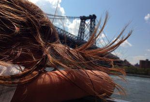Your hair and Manhattan Bridge