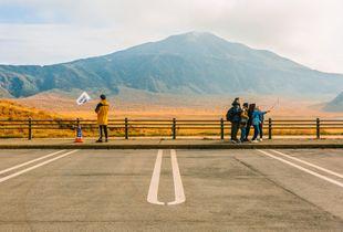 Dernier selfie au mont Aso.