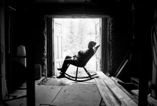 Woman in a rockingchair