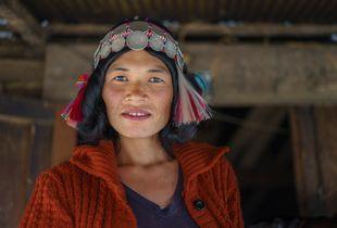 Portrait of Akha Woman