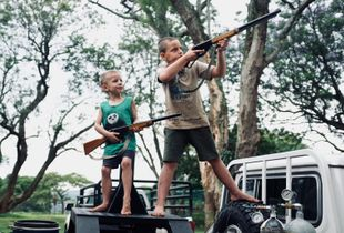 Boys Shooting Birds