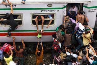Life at Kamalapur Railway Station