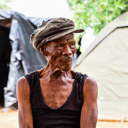 Kalahari Bushman Chief OuDam of the Ju/'hoansi tribe