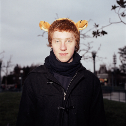 Man with tiger-ears
