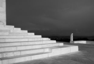 Vimy ridge in the fading light.