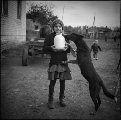Fresh milk. Russia, Bryansk reg, 2004