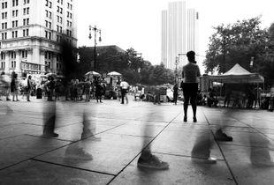 Walking On The Street - NYC 2014