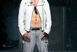 Cole Manson (Johnny Uta). 2nd, Air Guitar Finals. Sneeky Dees Club, Toronto © Sandy Nicholson