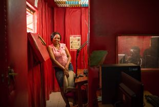 Catherine Wanjiku, manager and moderator at Radio KOCH FM, Korogocho, near Nairobi, Kenya