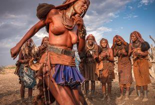 Himba Woman Enjoying The Ondjongo Dance