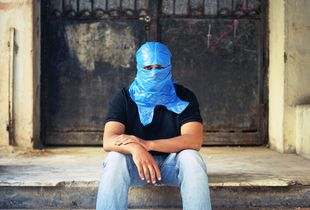 Blue Bag, Beirut 2010 #008 (from the Series Blue Bag 2007-2016)