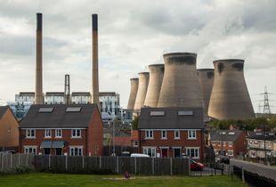 Ferrybridge Power Station and Knottingley,