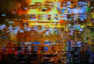 The image formed by noise on the TV screen_ Beethoven