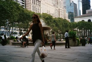 New-York City (2), Bryant Park, a small oasis in the middle of the buildings.