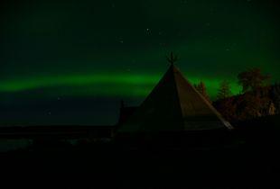 Nordlicht am Polarkreis