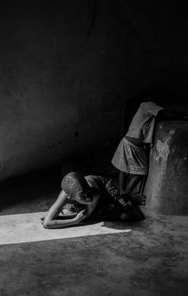 Children in the House of King Suliman, Canetanka Village, Benin