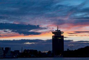 Adams Tower and Dutch sky
