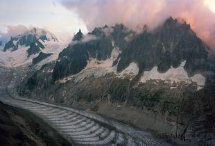 French/Swiss Border at Mer De Glace, 2013  © Scott Conarroe