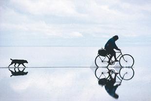Crossing the salt flat