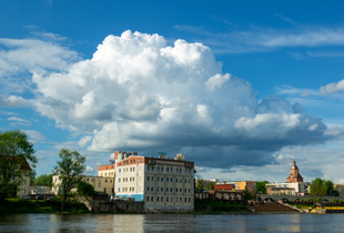 My city. On the other side of the Warta River.   Nostalgic landscapes 2021.