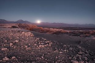 moonrise in the desert