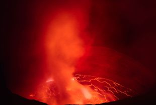 """The Nyiragongo volcano in the Democratic Republic of Congo is a truly amazing sight, but the fact that it is remote and located in a conflict zone makes access complicated. I feel privileged to have been there and I think the images portray the unique beauty of the place."" —Klaus Thymann"