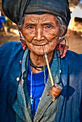 Woman Smoking Pipe