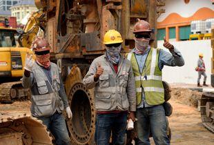 Carpenters showin' off