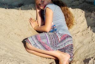 Young Girl Hiding