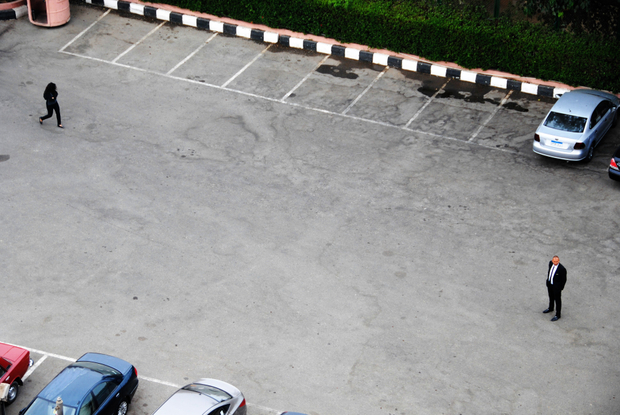 Parking of a hotel in Cairo