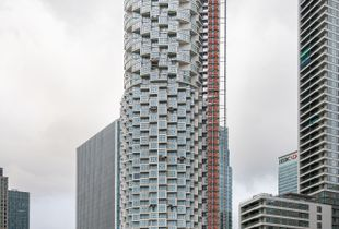 Under construction / One Park Drive building, Canary Wharf, London