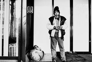 Homeless people in Amsterdam