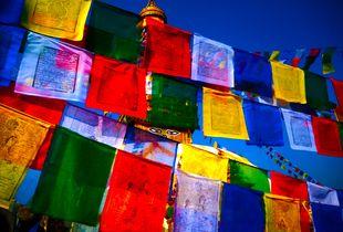 Burst of Colour at Swoyambhunath