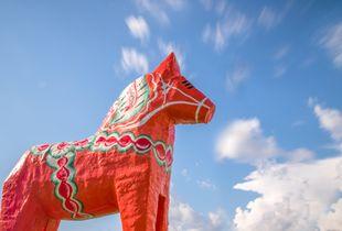 Chasing Clouds: Swedish Dala Horse