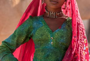 A tribal woman in Rajasthan, India
