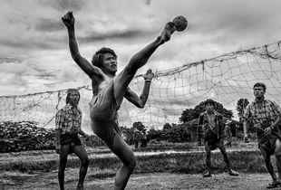 Myanmar - Portrait in action.