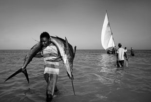 Zanzibar.Fisherman Nungwi village.