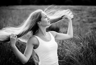 When your hair is dancing in the wind...