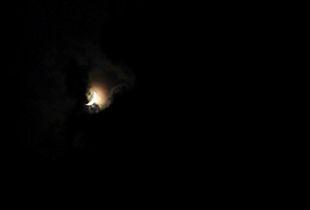 Moon beam at dark