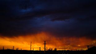 sunset vs. rain (part1)